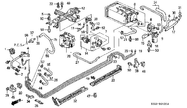 97 honda accord fuel filter location fuel filter location? - honda accord forum : v6 ... #8