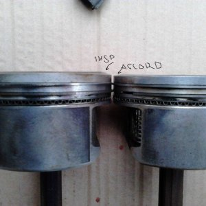 Different inspire and accord (j30a4) piston